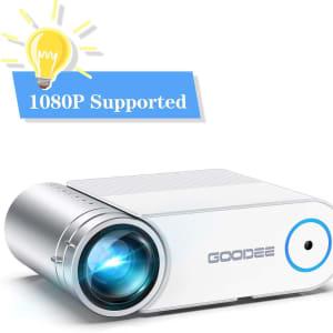 Projector, GooDee 2020 Upgrade G500 Mini Video Projector