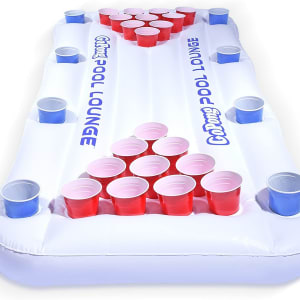 GoPong Pool Lounge Floating Beer Pong Table Inflatable with Social Floating