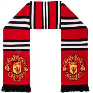 Manchester United FC Authentic EPL Stripe Scarf - UK Import