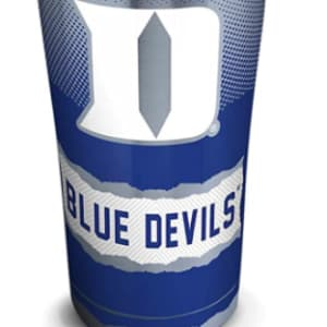 Tervis Duke Blue Devils Knockout Stainless Steel Tumbler with Clear and Black Hammer Lid
