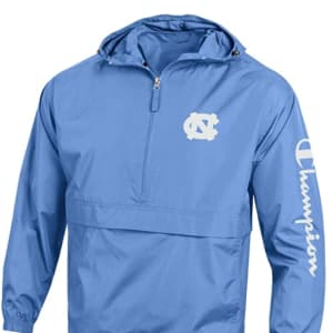 Champion NCAA Mens NCAA Men's Half Zip Packable Hooded Wind Jacket