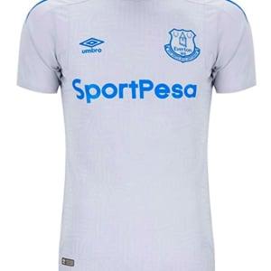 Umbro Mens Everton F.C. Short Sleeve Away Jersey, Grey