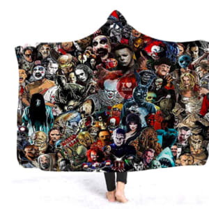 YEARGER Horror Movie Character Hooded Blanket