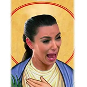 Crying Kim Kardashian Celebrity Prayer Candle