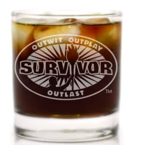Survivor TV Show Whiskey Glass Officially Licensed Collectible Premium