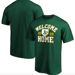 Oakland Athletics Fanatics Branded Welcome Home T-Shirt - Green