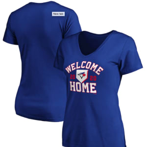 Toronto Blue Jays Fanatics Branded Women's Welcome Home V-Neck T-Shirt - Royal