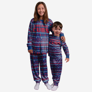 Chicago Cubs Youth Family Holiday Pajamas - 10/12 (M)