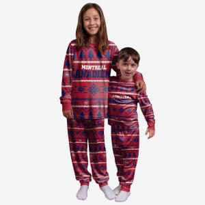 Montreal Canadiens Youth Family Holiday Pajamas - 14/16 (L)