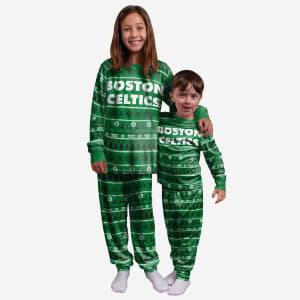Boston Celtics Youth Family Holiday Pajamas