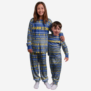 Golden State Warriors Youth Family Holiday Pajamas - 4