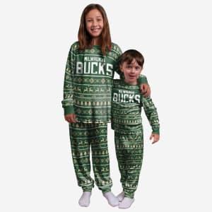 Milwaukee Bucks Youth Family Holiday Pajamas - 4