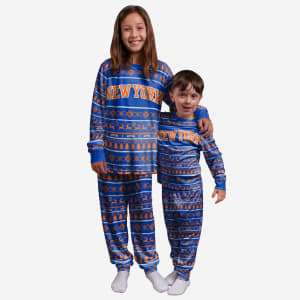 New York Knicks Youth Family Holiday Pajamas - 4