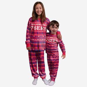 Philadelphia 76ers Youth Family Holiday Pajamas - 7