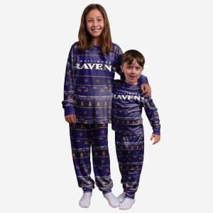 Baltimore Ravens Youth Family Holiday Pajamas