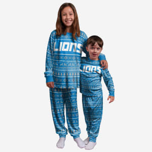 Detroit Lions Youth Family Holiday Pajamas - 10/12 (M)