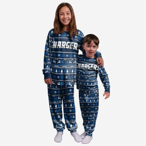 Los Angeles Chargers Youth Family Holiday Pajamas - 14/16 (L)