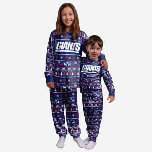 New York Giants Youth Family Holiday Pajamas - 18/20 (XL)