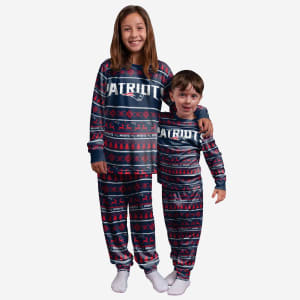 New England Patriots Youth Family Holiday Pajamas - 5/6