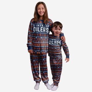 Edmonton Oilers Youth Family Holiday Pajamas