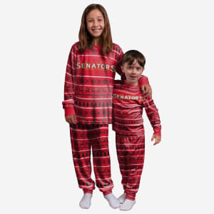 Ottawa Senators Youth Family Holiday Pajamas - 8 (S)