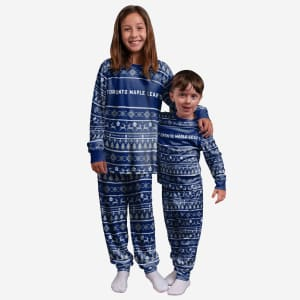 Toronto Maple Leafs Youth Family Holiday Pajamas - 7
