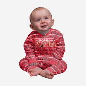 Calgary Flames Infant Family Holiday Pajamas - 24 mo