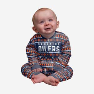 Edmonton Oilers Infant Family Holiday Pajamas - 24 mo