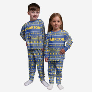 Golden State Warriors Toddler Family Holiday Pajamas - 4T