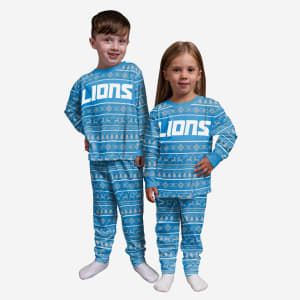 Detroit Lions Toddler Family Holiday Pajamas - 4T