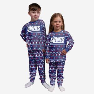 New York Giants Toddler Family Holiday Pajamas - 2T