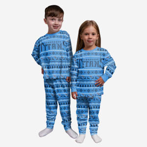 Tennessee Titans Toddler Family Holiday Pajamas - 3T