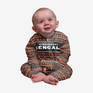 Cincinnati Bengals Infant Family Holiday Pajamas