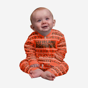 Cleveland Browns Infant Family Holiday Pajamas - 24 mo