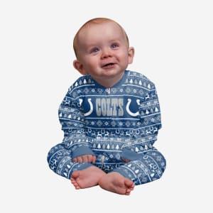 Indianapolis Colts Infant Family Holiday Pajamas - 18 mo