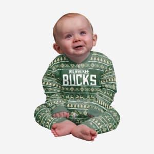 Milwaukee Bucks Infant Family Holiday Pajamas - 24 mo