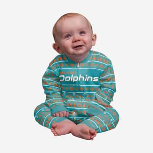 Miami Dolphins Infant Family Holiday Pajamas