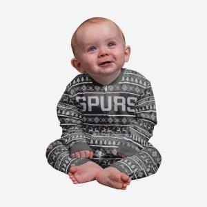 San Antonio Spurs Infant Family Holiday Pajamas - 12 mo