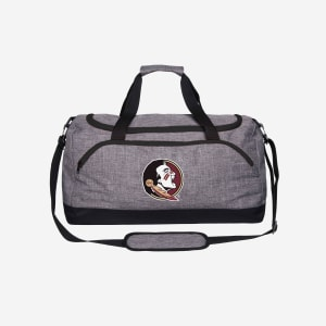 Florida State Seminoles Heather Grey Bold Color Duffle Bag