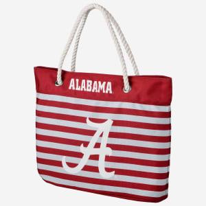 Alabama Crimson Tide Nautical Stripe Tote Bag
