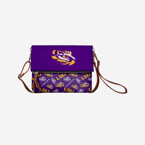 LSU Tigers Printed Collection Foldover Tote Bag