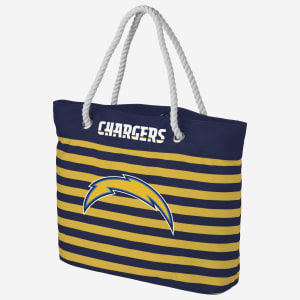 Los Angeles Chargers Nautical Stripe Tote Bag