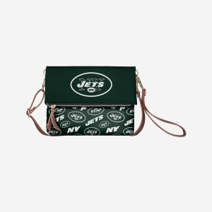 New York Jets Printed Collection Foldover Tote Bag