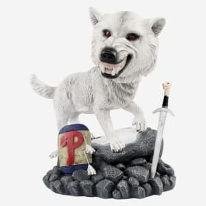 Philadelphia Phillies Game Of Thrones Direwolf Bobblehead