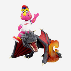 Cleveland Indians Slider Game Of Thrones Mascot On Fire Dragon Bobblehead