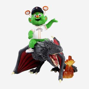 Houston Astros Orbit Game Of Thrones Mascot On Fire Dragon Bobblehead