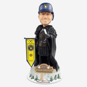 Milwaukee Brewers Ryan Braun Game Of Thrones Night's Watch Bobblehead