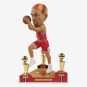Dennis Rodman Chicago Bulls 3X NBA Champion Bobblehead