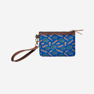 Florida Gators Printed Collection Repeat Logo Wristlet