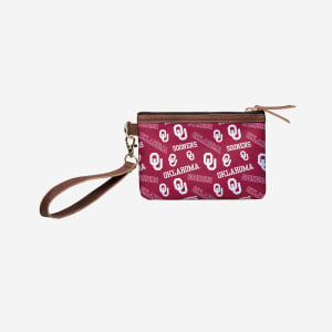Oklahoma Sooners Printed Collection Repeat Logo Wristlet
